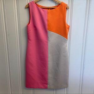Tahari Arthur S. Levine Color-block Dress